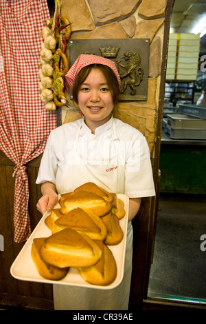 Japan, Insel Honshu, Region Chubu, Kanazawa, Bäckerei - Stockfoto