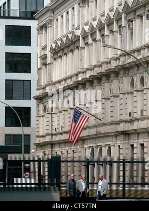 Berlin, Botschaft der Vereinigten Staaten von Amerika - Stockfoto