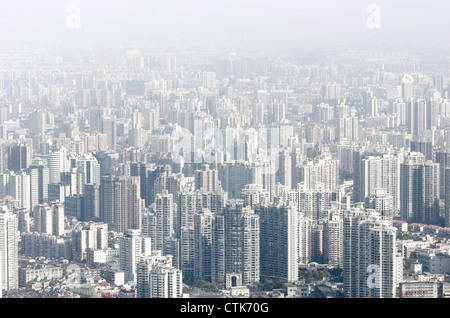 Luftaufnahme des endlosen Gebäude in Shanghai - Stockfoto