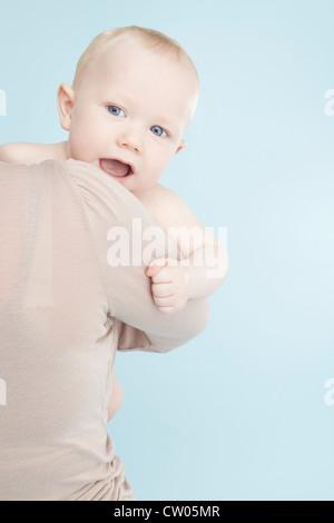 Mutter mit Baby junge - Stockfoto