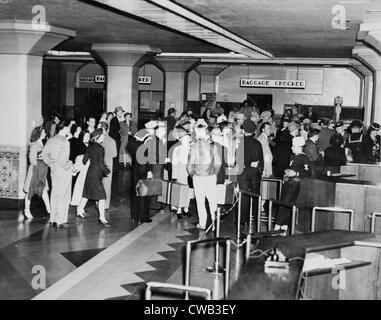 Los Angeles Union Station innen Kalifornien, ca. 1940er Jahre. - Stockfoto
