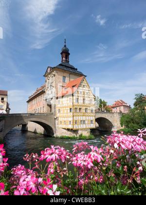 Altes Rathaus oder Altes Rathaus in Bamberg Bayern Deutschland - Stockfoto