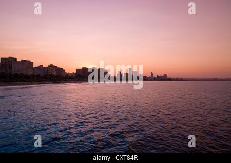 Skyline, Küste, Durban, KwaZulu-Natal, Südafrika, Afrika - Stockfoto