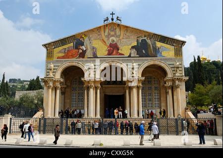 Kirche aller Nationen, auch bekannt als Basilika von der Qual, Ölberg, Jerusalem, Israel, Naher Osten - Stockfoto