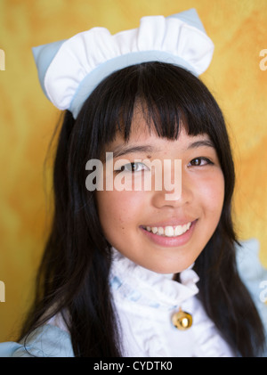 Lokale Inselbewohner kleiden wie ihre Lieblings-Manga oder Anime-Figuren für Mihama Manga Expo in Chatan, Okinawa, - Stockfoto