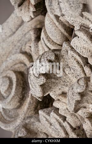 Fassade Stein schnitzen aus Granit-Fassade des alten historischen Gebäude in Melbourne Australien nach die alten - Stockfoto