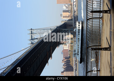 Dumbo, ein Akronym für Down Under the Manhattan Bridge Overpass Viertel im New Yorker Stadtteil Brooklyn - Stockfoto
