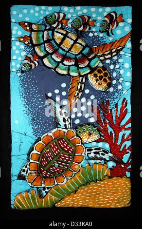 Schildkröte Batik aus Sri Lanka - Stockfoto