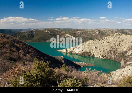 Fluss Krka Nationalpark, Blick vom Krnici belvedere - Stockfoto