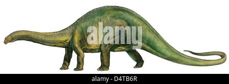 Brontosaurus (Retro), einem prähistorischen Ära Dinosaurier aus der Jurazeit. - Stockfoto