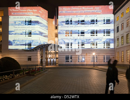 Berlin, Deutschland, die Botschaft der Vereinigten Staaten, das Festival der Lichter 2011 - Stockfoto