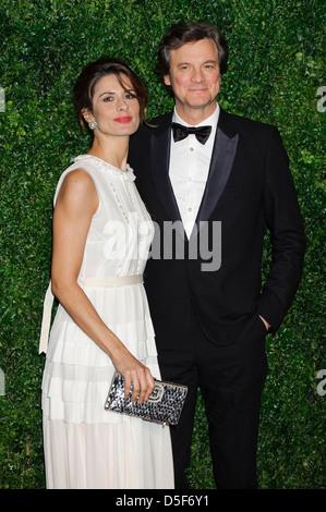 Livia Firth und Colin Firth bei der 58. London Evening Standard Theatre Awards gesehen. - Stockfoto
