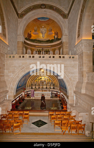 Innenraum der Franziskaner Kirche der Verklärung, Berg Tabor, - Stockfoto