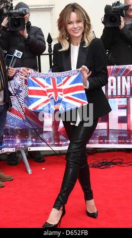 "London, UK. 11. April 2013. Amanda Holden bei ""Britain es Got Talent"" Pressekonferenz, an der ICA, London - 11. - Stockfoto"