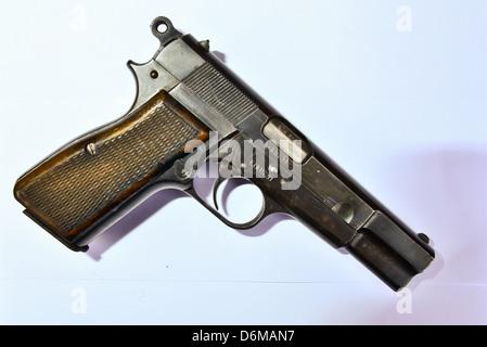 Original Browning high-Power 9mm Pistole - Stockfoto