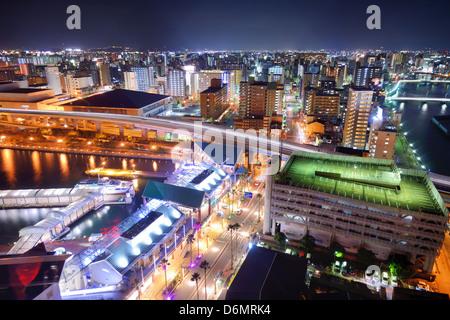 Fukuoka, Japan Stadtbild - Stockfoto