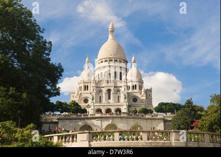 Basilika Sacre Coeur, Montmartre, Paris, Frankreich - Stockfoto
