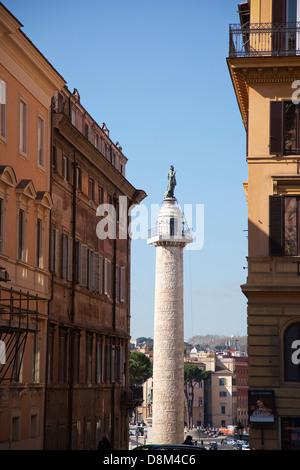 Italien, Latium, Rom, Trajans-Säule in der Nähe von Quirinal Hügel. - Stockfoto
