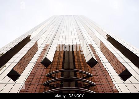 Kupfer-farbigen Fassaden, Sheikh Zayed Road, Dubai, Vereinigte Arabische Emirate - Stockfoto