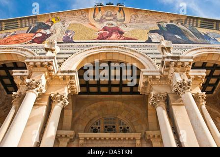 Die Church of All Nations auch bekannt als die Basilika der Agonie. Es ist eine römisch-katholische Kirche befindet - Stockfoto
