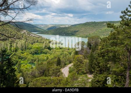 KRKA Nationalpark, Sibenik, Kroatien, Fernsehreihe, Dalmatien, Dalmatien, Winnetou-Filme - Stockfoto