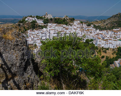 Andalusien Casares Spanien Europa Hill Top White village - Stockfoto