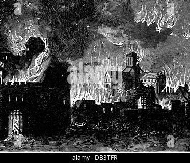 Feuer, Brände, große Feuer von London, 2.-5.9.1666, Additional-Rights - Clearences-NA - Stockfoto