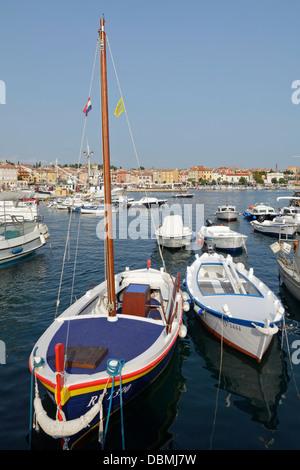 Marina, Rovinj, Istrien, Kroatien - Stockfoto