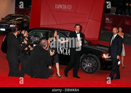 Colin Firth und seine Frau Livia Giuggioli der 68. Filmfestspiele von Venedig - Tag 6 - Tinker, Tailor, Soldier, - Stockfoto