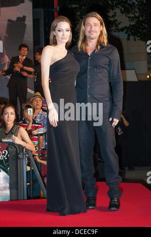 29. Juli 2013, Tokio, Japan: Amerikanische Schauspieler Brad Pitt und Angelina Jolie Japan am 29. Juli besuchen, - Stockfoto