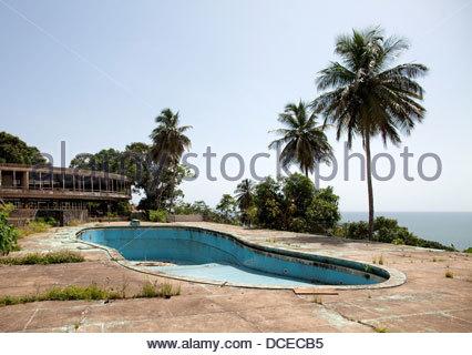 Ruinen von einem Hotel, Ducor Hotel, Monrovia, Liberia - Stockfoto