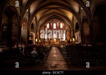Mirepoix ist liegt südlich von barthas. Mirepoix Kathedrale Saint-Maurice in Mirepoix, Ariege ...