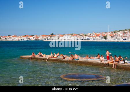 Vodice Strand, Kroatien - Stockfoto