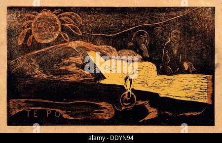 "Te po. La Grande Nuit (aus der Serie Noa Noa) "", 1893-1894. Künstler: Paul Gauguin - Stockfoto"
