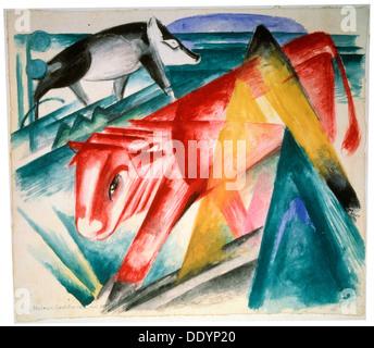 """""""Tiere"""", 1912-1913.  Künstler: Franz Marc - Stockfoto"""