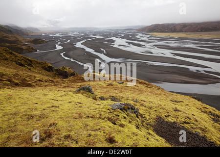 Ich joekulsa Loni, Osten Island, Island, Europa - Stockfoto