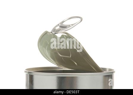 Halboffene Zinn, detail - Stockfoto