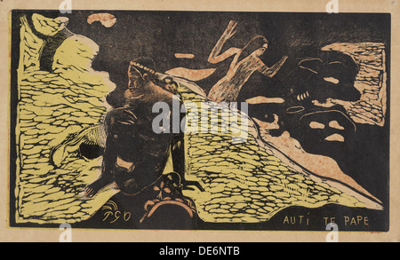 Auti Te Pape (Frauen am Fluss) Aus der Serie Noa Noa, 1893-1894. Artist: Gauguin, Paul Eugéne Henri (1848-1903) - Stockfoto