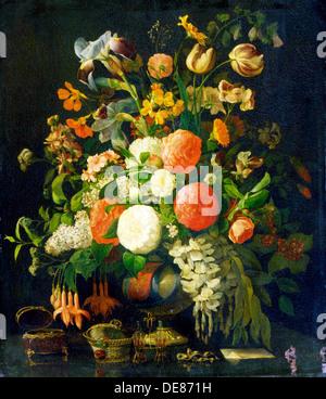 """""""Blumen"""", aus dem 18. Jahrhundert. Künstler: Rachel Ruysch - Stockfoto"""