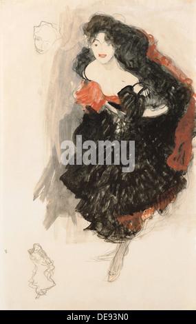 Studie für Judith II, c. 1908. Künstler: Klimt, Gustav (1862-1918) - Stockfoto