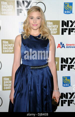 "Greta Gerwig 50. New York Filmfestival - ""Frances Ha""-Premiere mit: Greta Gerwig Where: New York City, Vereinigte - Stockfoto"