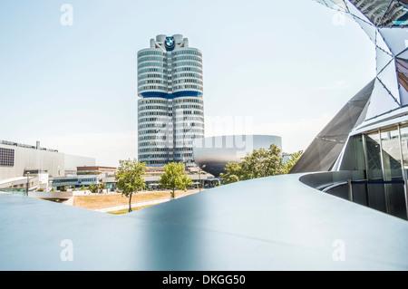 BMW-Zentrale, München, Bayern, Deutschland, Europa - Stockfoto
