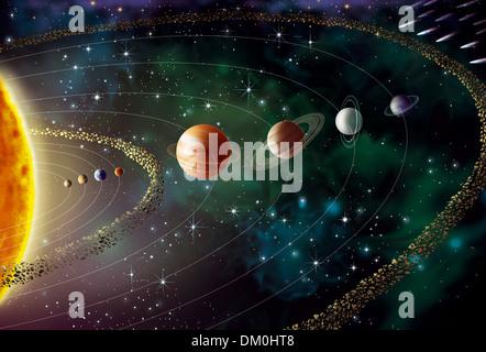 SOLAR-SYSTEM - Stockfoto