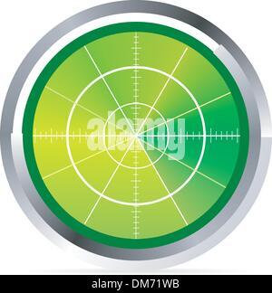 Abbildung von Radar oder Oszilloskop monitor - Stockfoto