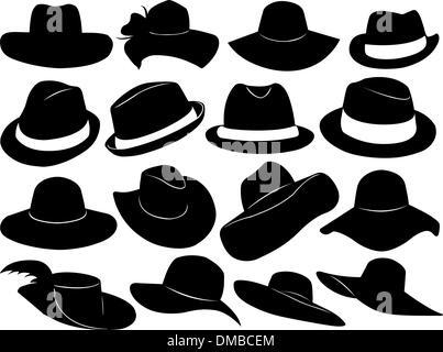 Hüte-Abbildung - Stockfoto