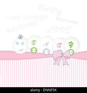 Niedliche Baby Hintergrund am Geburtstag oder Dusche - Stockfoto