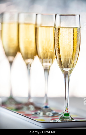 Champagner für das neue Jahr 2014 - Stockfoto