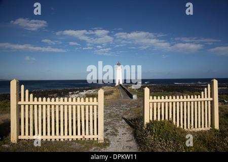 Dieses Holz gebaut Leuchtturm steht auf Griffin Insel vor den Toren Port Fairy an der australischen Küste - Stockfoto
