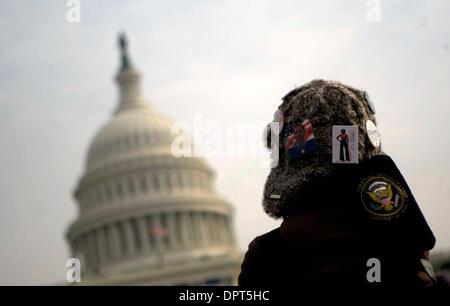 19. Januar 2009 - Washington, District Of Columbia, USA - Menschen sammeln in Washington DC am Vorabend der historischen - Stockfoto