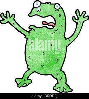 Cartoon erschrocken Frosch - Stockfoto